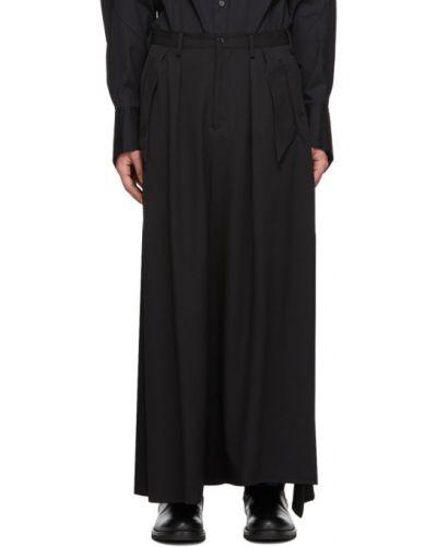 Черная сатиновая юбка для полных Sulvam