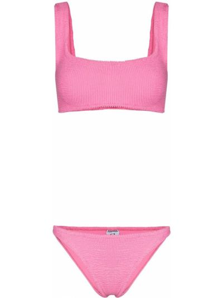 Нейлоновые розовые бикини Hunza G