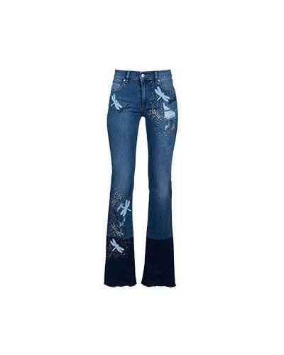 Синие джинсы Valentino Red