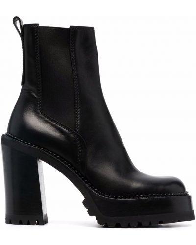 Кожаные ботинки челси - черные Premiata