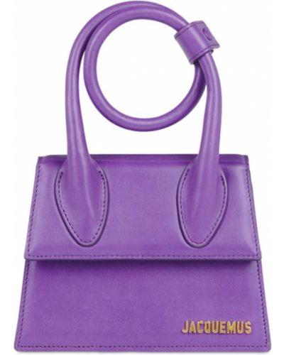 Фиолетовая сумка металлическая Jacquemus