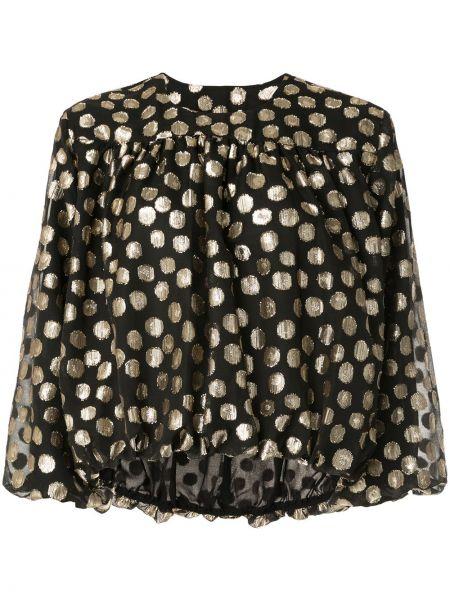 Блузка с вырезом - черная Ck Calvin Klein