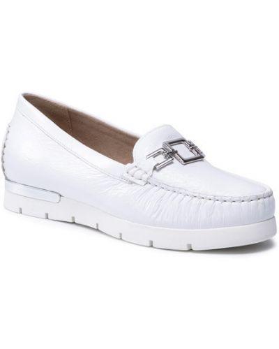 Białe mokasyny Caprice