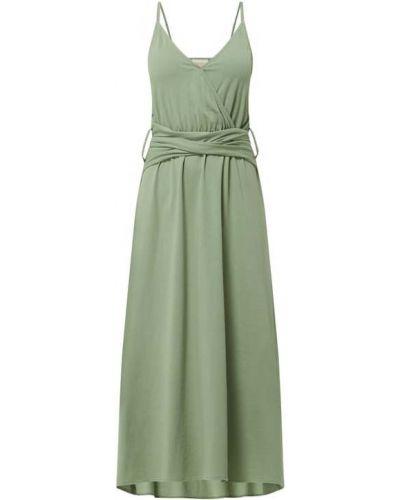 Zielona sukienka mini rozkloszowana bawełniana Shiwi