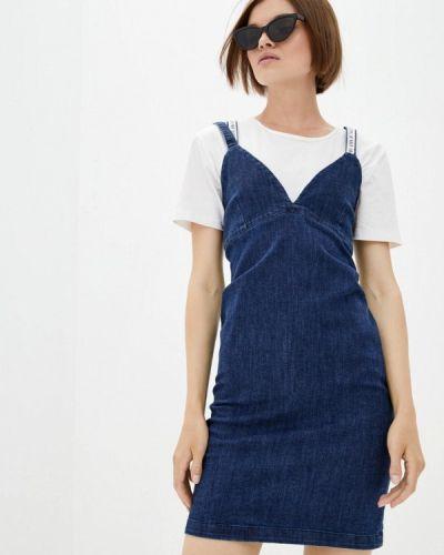 Джинсовое платье - синее Frankie Morello