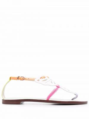 Белые сандалии на плоской подошве Sophia Webster