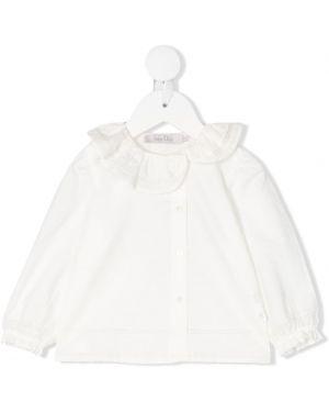 Bluzka z długimi rękawami z falbanami bawełniana Baby Dior