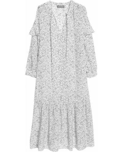 Шелковое платье миди - белое Mih Jeans