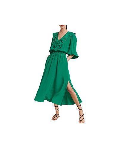 Зеленое коктейльное платье Luisa Spagnoli