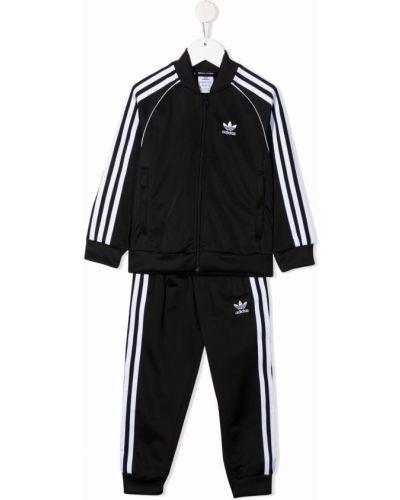 Biały dres z printem Adidas Kids