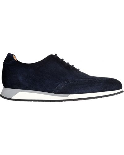 Туфли замшевые спортивные Santoni
