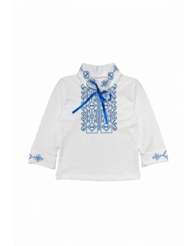 Рубашка белая синий Baby Art