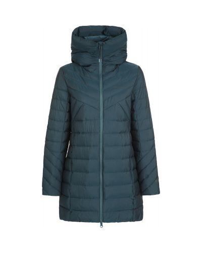 Прямая синяя нейлоновая длинная куртка на молнии Merrell