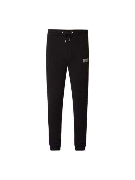 Czarne spodnie bawełniane Ellesse