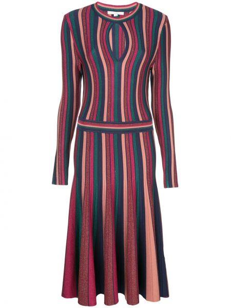 Плиссированное платье макси со складками с люрексом с вырезом Jonathan Simkhai