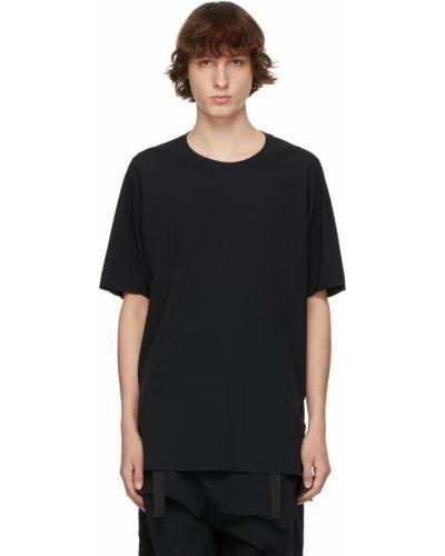 Czarny t-shirt krótki rękaw z nylonu Acronym