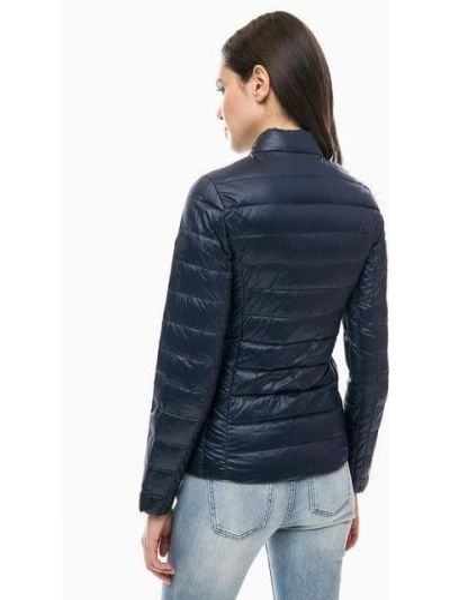 Синяя куртка с капюшоном на молнии Armani Exchange