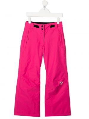 Брючные прямые розовые прямые брюки с поясом Rossignol Kids