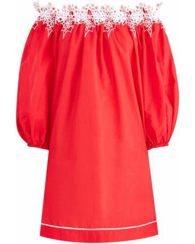 Платье мини с цветочным принтом пляжное Ermanno Scervino