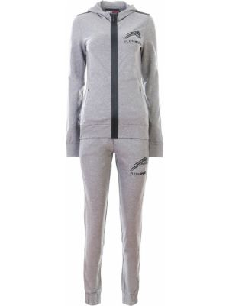 Серый костюмный спортивный костюм с карманами на молнии Plein Sport