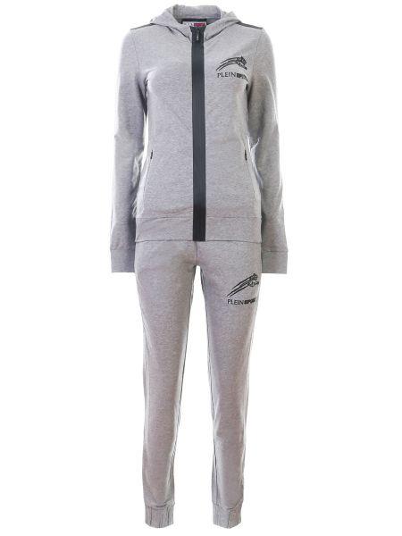 Спортивный костюм на молнии - серый Plein Sport