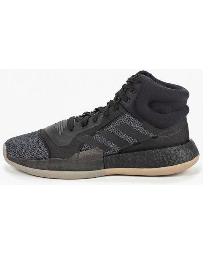 Черные высокие кроссовки Adidas
