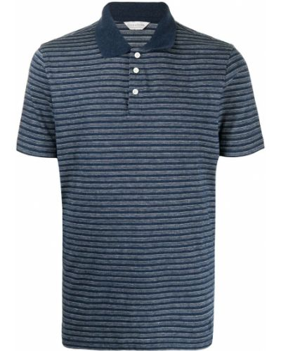Koszula bawełniana krótki rękaw w paski Gieves & Hawkes