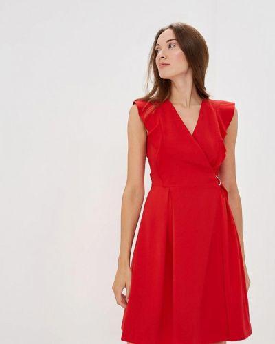 Красное платье с запахом Lusio