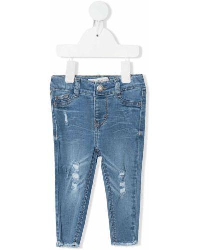 Облегающие синие джинсы-скинни на пуговицах Levi's Kids