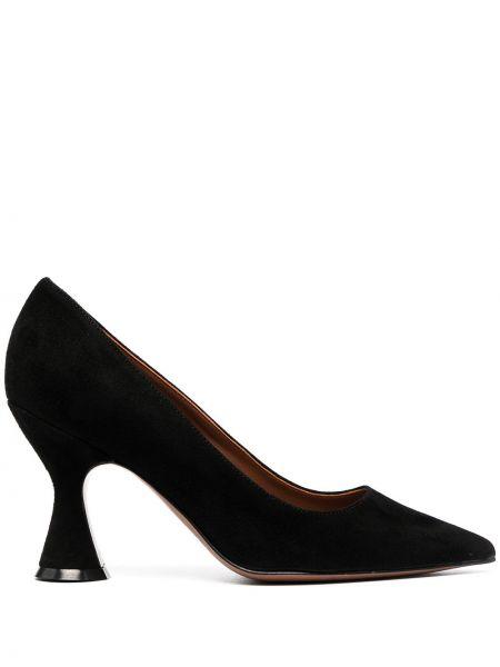 Черные кожаные туфли-лодочки без застежки L'autre Chose