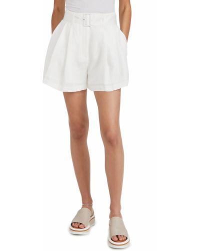 Текстильные белые шорты с карманами на шпильке Club Monaco