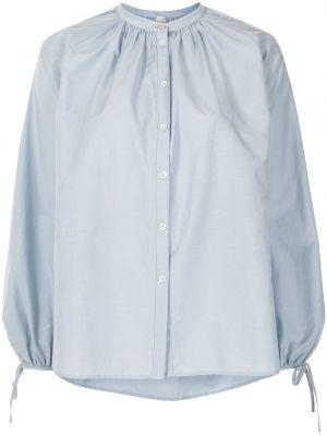 Синяя шелковая с рукавами блузка Paul Smith