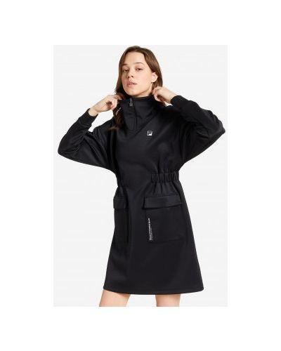 Черное облегающее платье Fila