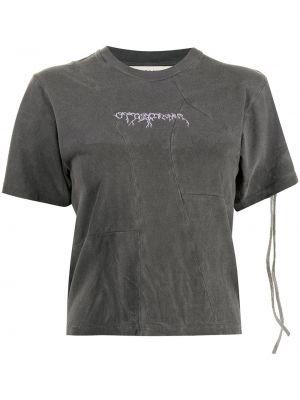 Czarna T-shirt z nadrukiem z printem Ottolinger