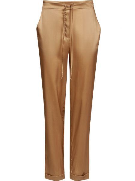Шелковые коричневые брюки Ballantyne