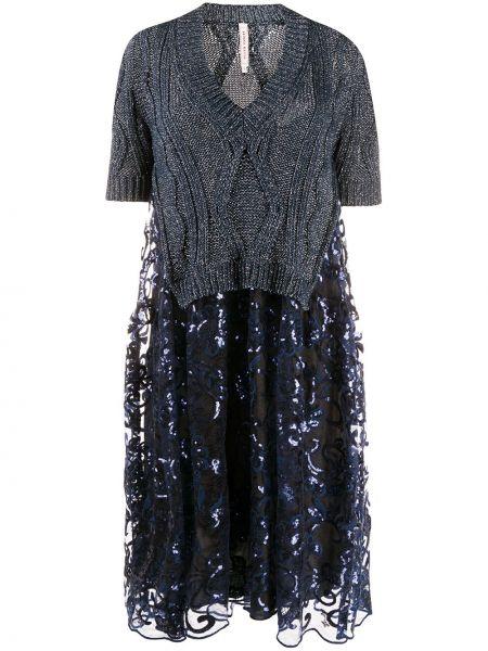 Платье мини с пайетками с V-образным вырезом Antonio Marras