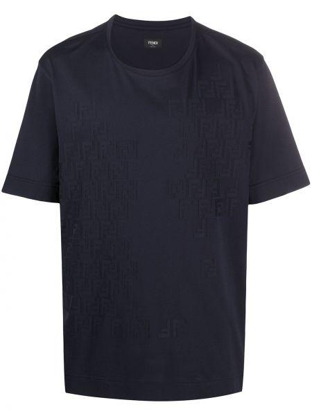 Koszula krótkie z krótkim rękawem niebieski Fendi