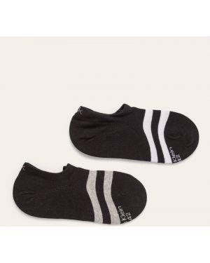 Czarne skarpety wełniane z printem Calvin Klein