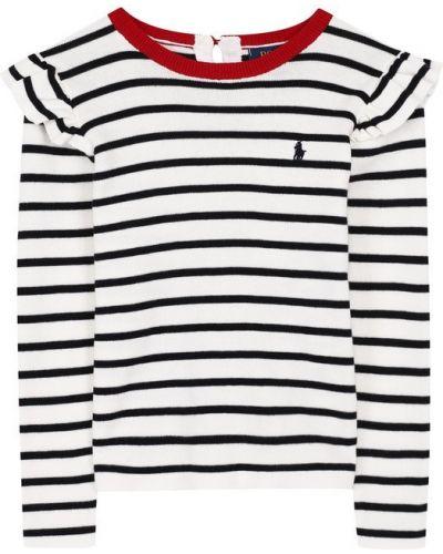 Свитер с вышивкой в полоску Polo Ralph Lauren