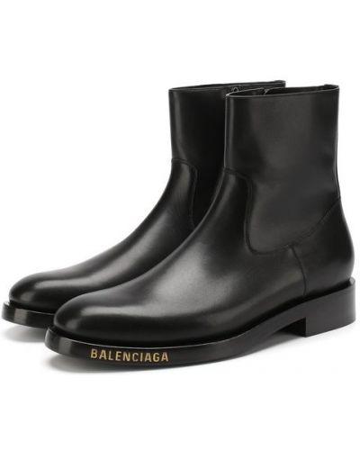 Черные сапоги кожаные Balenciaga