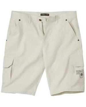 Хлопковые бежевые шорты карго с карманами на пуговицах Atlas For Men