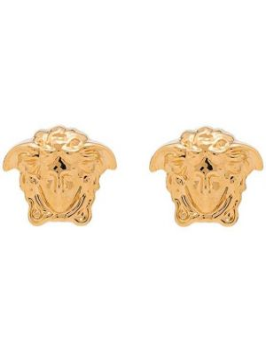 Золотистые желтые серьги с бабочкой Versace