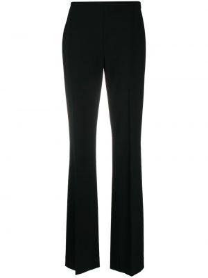 Шерстяные черные расклешенные брюки с высокой посадкой Ralph Lauren