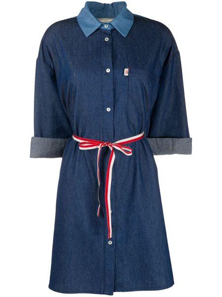 Платье с поясом на пуговицах платье-рубашка Semicouture