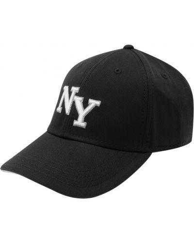Czarna czapka bawełniana z haftem No Fear