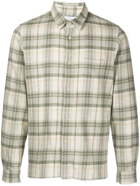 Koszula w kratę - zielona John Elliott