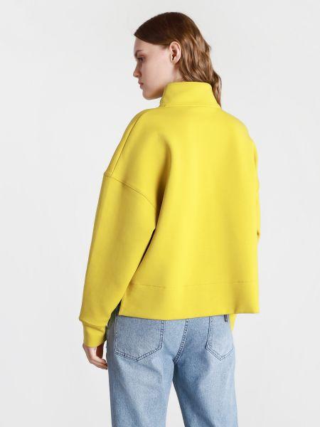 Желтая укороченная кофта Napapijri