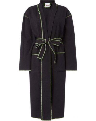 Czarny szlafrok bawełniany Kenzo