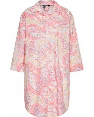 Różowa koszula nocna Lauren Ralph Lauren