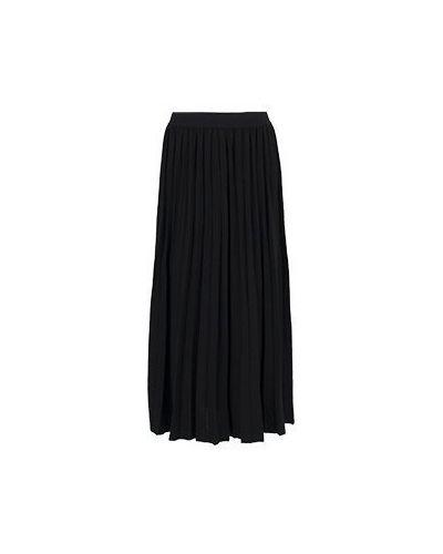 Плиссированная шерстяная черная плиссированная юбка Luisa Spagnoli
